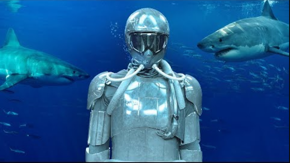 Le magicien Andrew Mayne parmi les requins