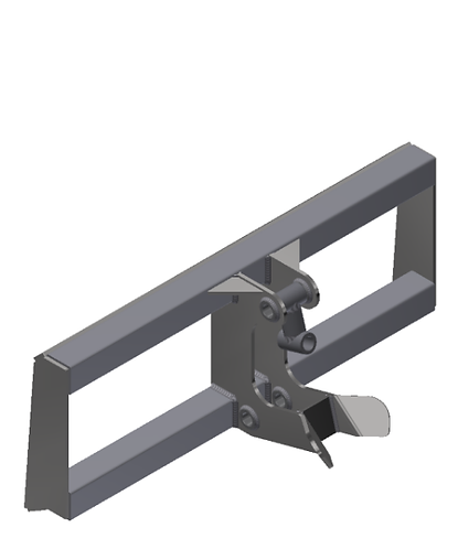 RayMak Standard Quick Attach - Double Pivot - Skid Steer Mount