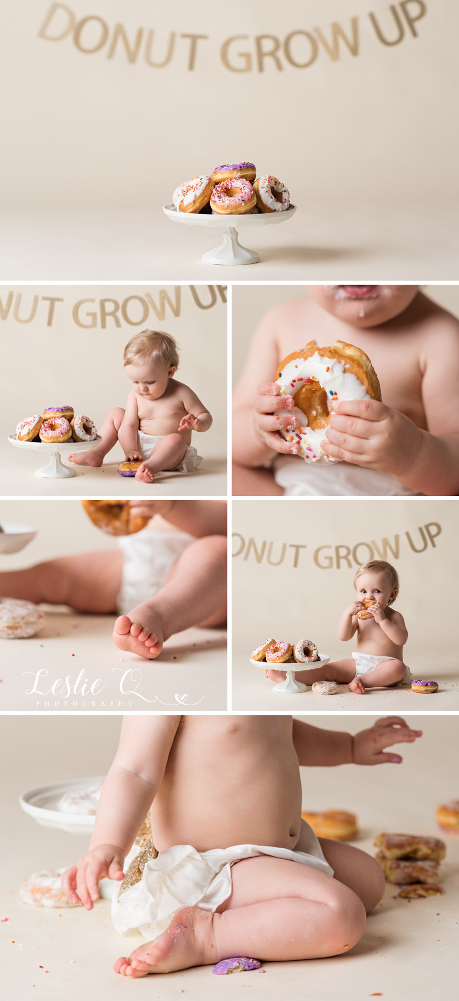 Leslie Q Photography Portrait Photographer One Year Cake Smash Photo Session