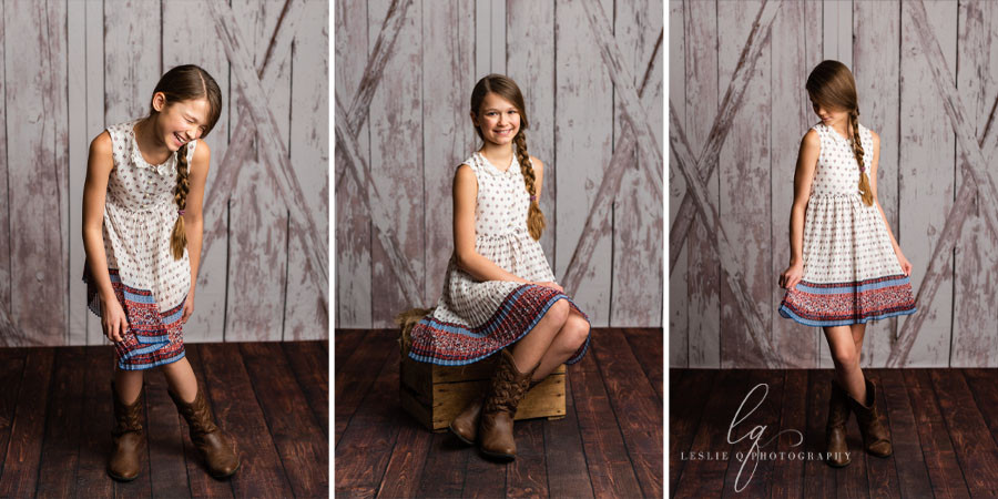 barn door backdrop, country girl, rustic, barn doors, country girl photoshoot, studio photography, milestone session, milestone, cakesmash, children photography, portraits, tween model, tween photography, senior photography, baby photography