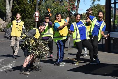 Community volunteers clean up Papakura Town Centre.
