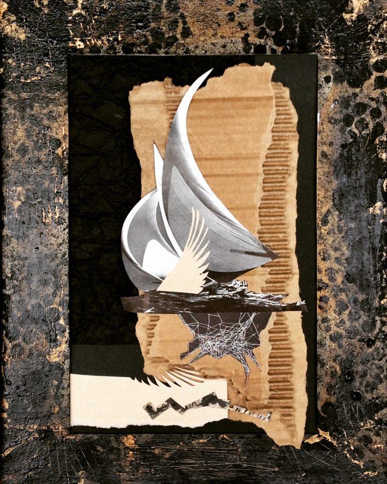 Wingspan by Elsa Bouman, Mixed Media, 12″x16″