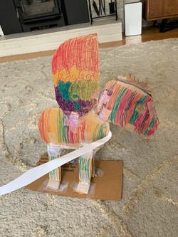 Rachel Barton Rainbow Dragon Cardboard S