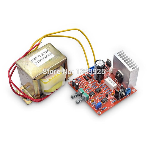 0-30v 2mA - 3A Adjustable DC Regulated Power Supply Kit With AC 24V Transformer