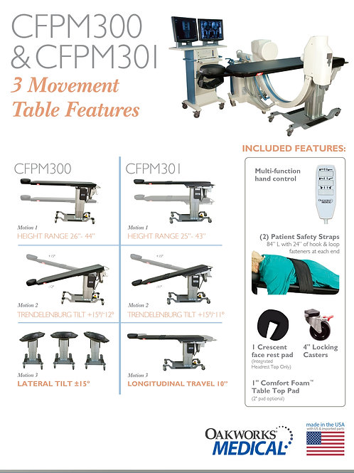 Oakworks CFPM300   3-Motion Surgical Table