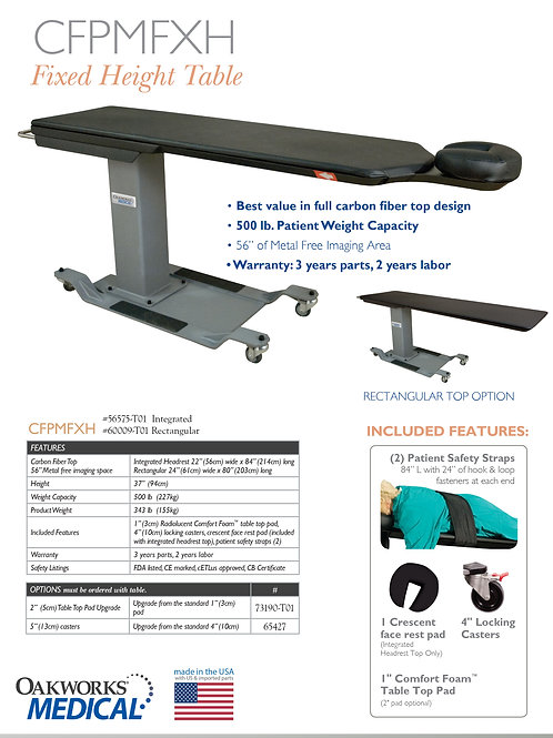 Oakworks CFPMFXH Fixed Height Imaging Table