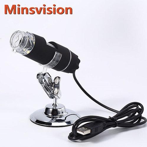 USB Digital Microscope Camera LED Electronic Endoscope 1000X Magnifying Glass