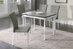 Dining Table DT-6810-TR 水泥灰陶瓷玻璃 C