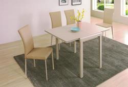 Dining Table DT-3386-TR 乳白陶瓷玻璃 O