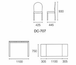 Dining Table DT-1051-TR 鉛色陶瓷玻璃 S