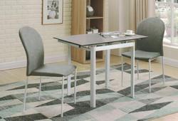 Dining Table DT-3352-TR 水泥灰陶瓷玻璃 O