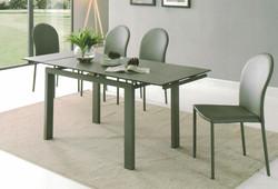 Dining Table DT-1051-TR 鉛色陶瓷玻璃 O
