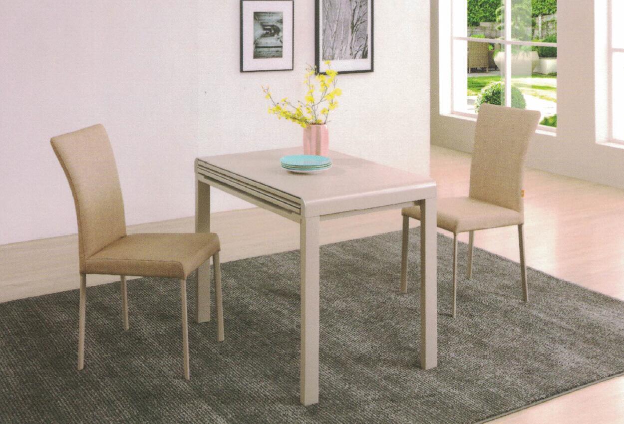 Dining Table DT-3386-TR 乳白陶瓷玻璃 C