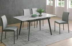Dining Table DT-1022-TR 爵士白陶瓷玻璃 O