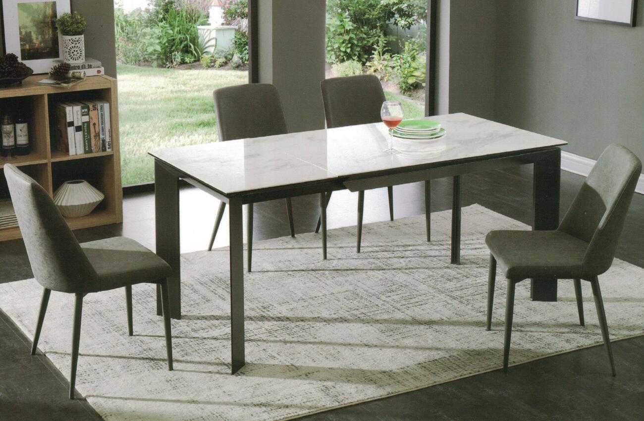 Dining Table DT-1037-TR 爵士白陶瓷玻璃 O
