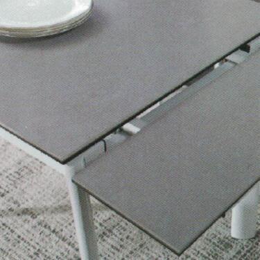 Dining Table DT-6810-TR 水泥灰陶瓷玻璃 D1