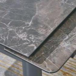 A817-CT 啡石紋陶瓷玻璃枱 D2