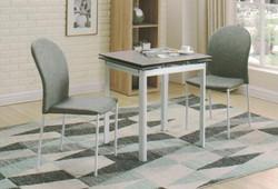 Dining Table DT-3352-TR 水泥灰陶瓷玻璃 C