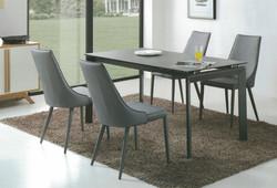 Dining Table DT-3703L-02-TR 鉛色陶瓷玻璃