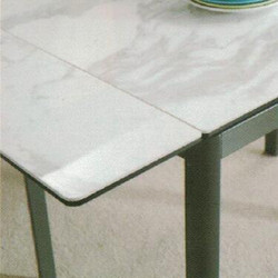 Dining Table DT-6830-WG-TR 爵士白陶瓷玻璃 配鉛色腳