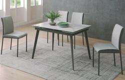 Dining Table DT-1022-TR 爵士白陶瓷玻璃 C