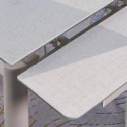 A813-CT 卡其布紋陶瓷玻璃枱 D2