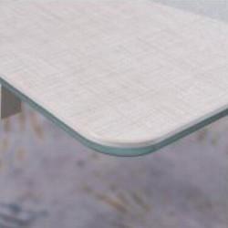 A813-CT 卡其布紋陶瓷玻璃枱 D1