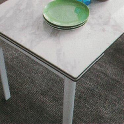 Dining Table DT-6830-WW-TR 爵士白陶瓷玻璃 配白色腳