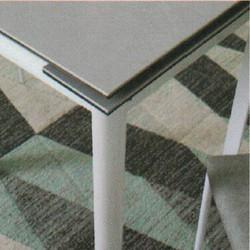 Dining Table DT-3352-TR 水泥灰陶瓷玻璃 D1