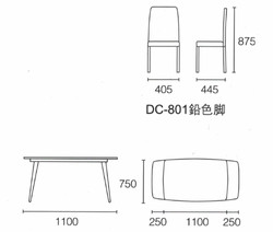 Dining Table DT-1022-TR 爵士白陶瓷玻璃 S