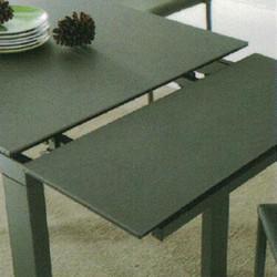Dining Table DT-1051-TR 鉛色陶瓷玻璃 D3