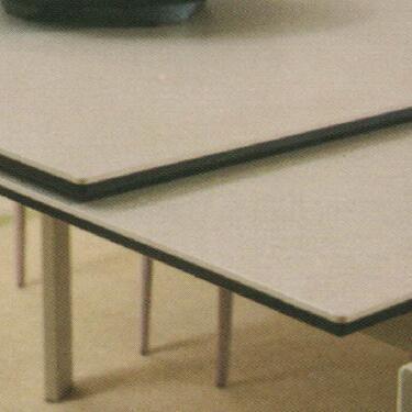 Dining Table DT-3703L-TR 乳白陶瓷玻璃 D1