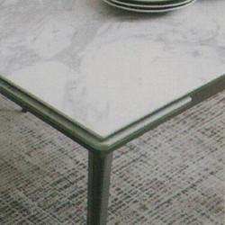 Dining Table DT-1022-TR 爵士白陶瓷玻璃 D1