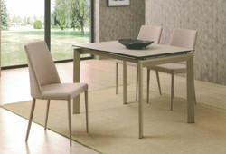Dining Table DT-3703L-TR 乳白陶瓷玻璃 C