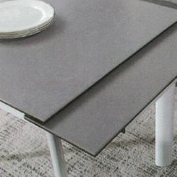 Dining Table DT-6810-TR 水泥灰陶瓷玻璃 D2