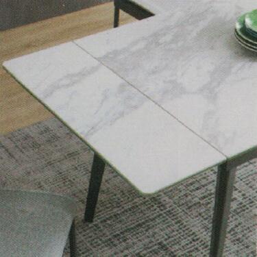 Dining Table DT-1022-TR 爵士白陶瓷玻璃 D3