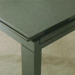 Dining Table DT-1051-TR 鉛色陶瓷玻璃 D1