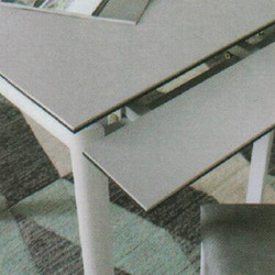 Dining Table DT-3352-TR 水泥灰陶瓷玻璃 D3