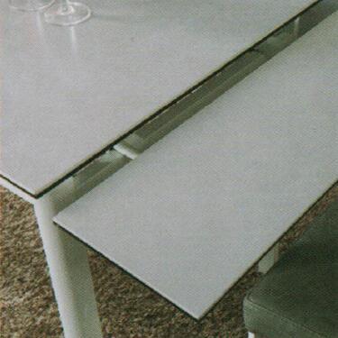 Dining Table DT-6830-GW-TR 水泥灰陶瓷玻璃 D1