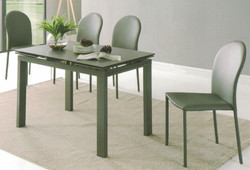 Dining Table DT-1051-TR 鉛色陶瓷玻璃 C