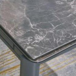 A817-CT 啡石紋陶瓷玻璃枱 D1