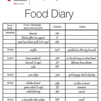 Food Diary 101