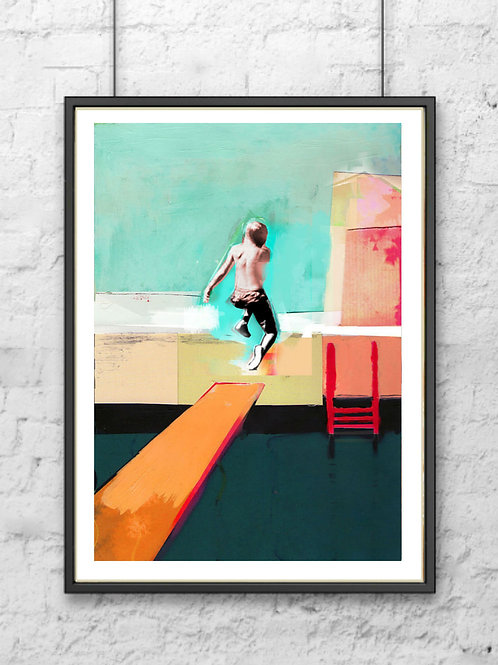 Jumping Boy - Signed Giclee Print