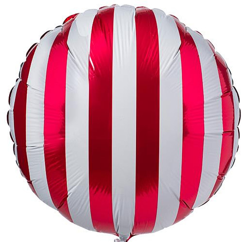 these circle striped mylar balloons feature a stylish design of vertical stripes that will add a hint of color and style to any party or event