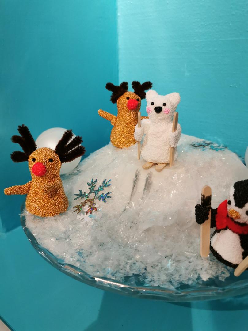 Polardyr med Foam Clay