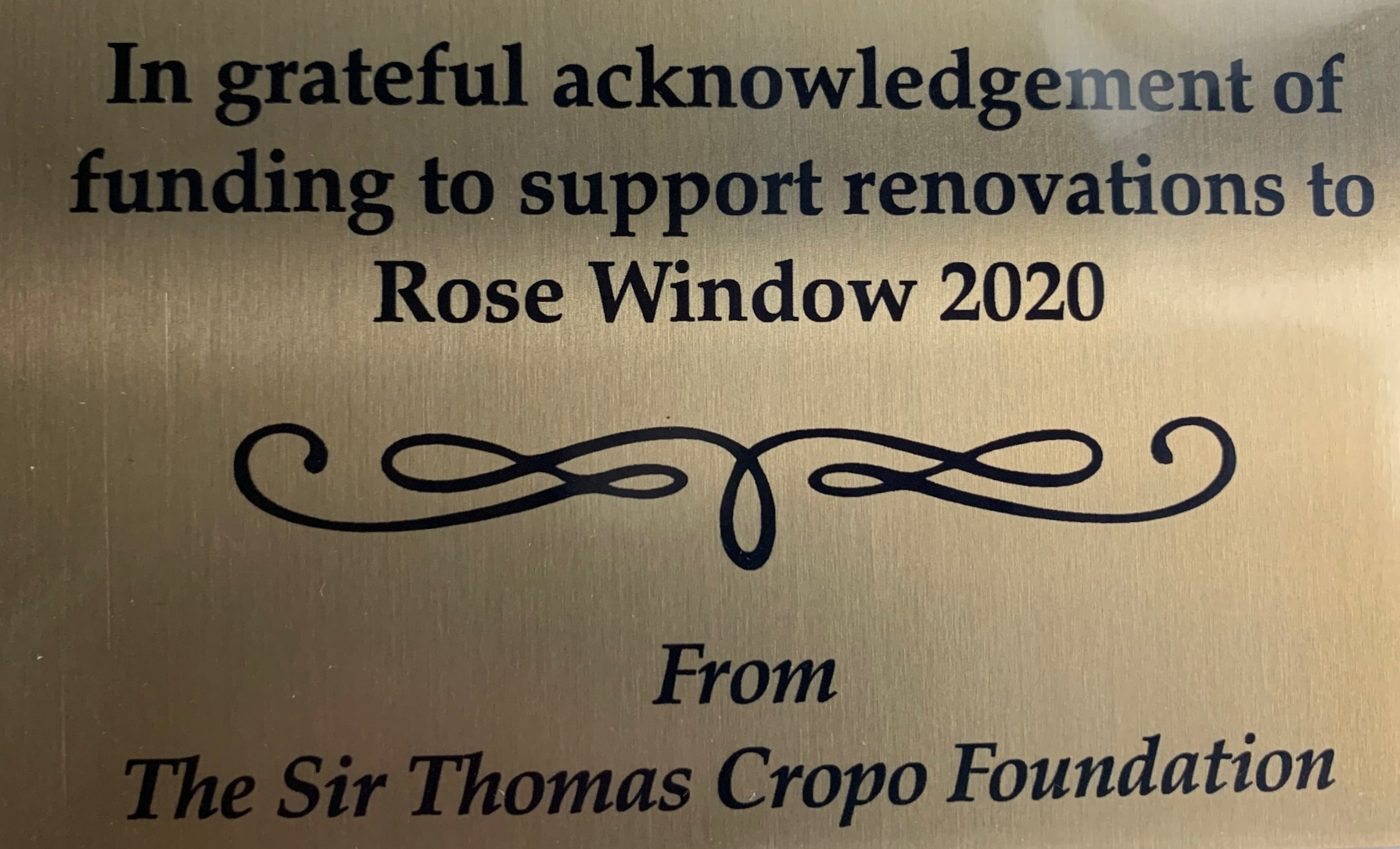 Sir Thomas Cropo Foundation ...