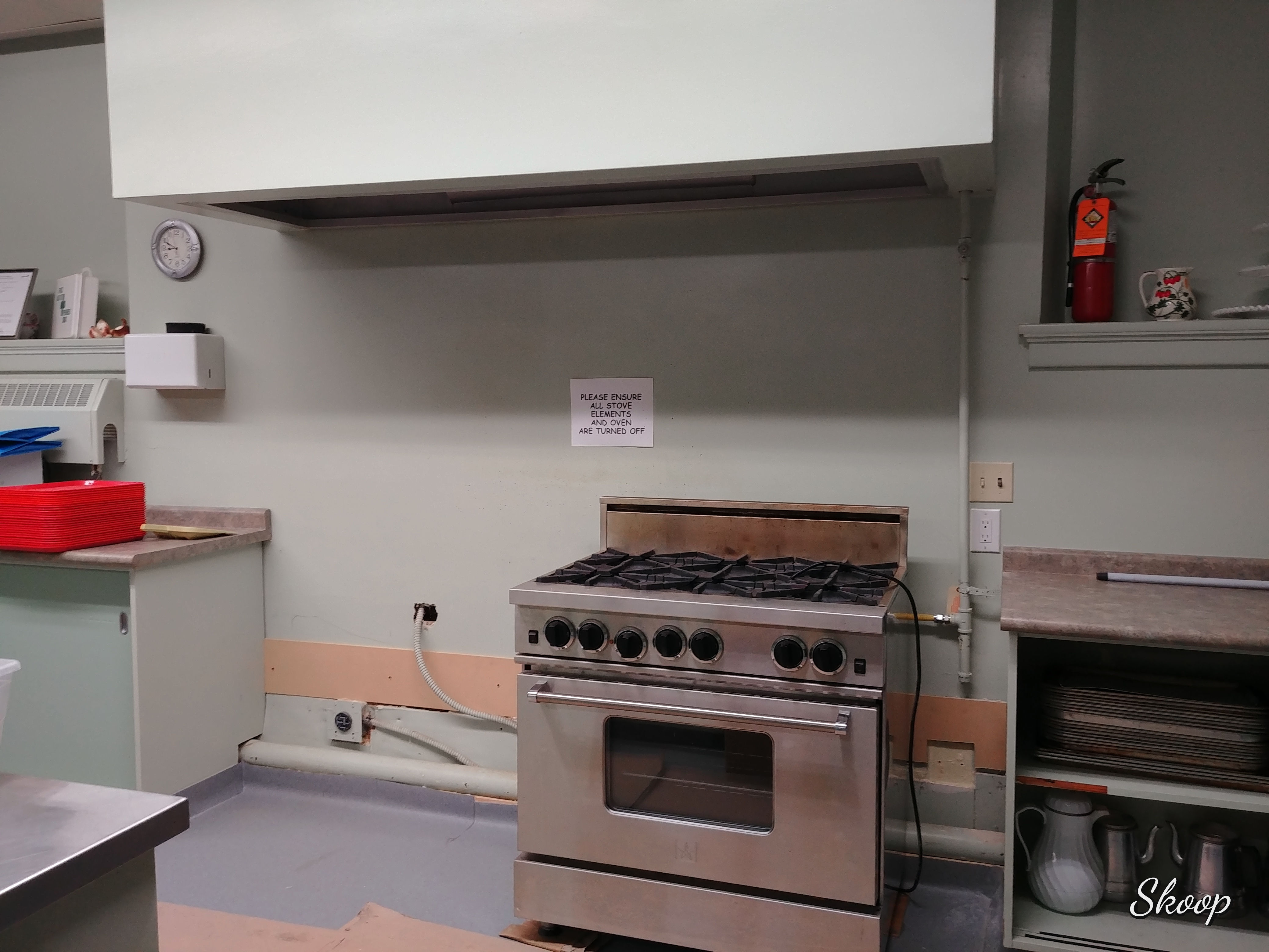 Before - new stoves coming