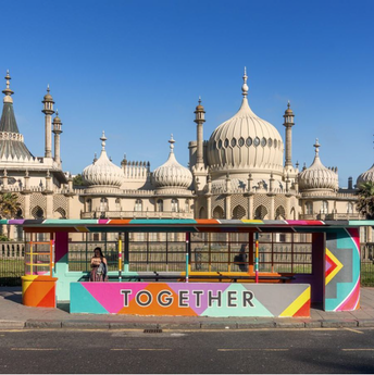 Bus Stop for Brighton Pride