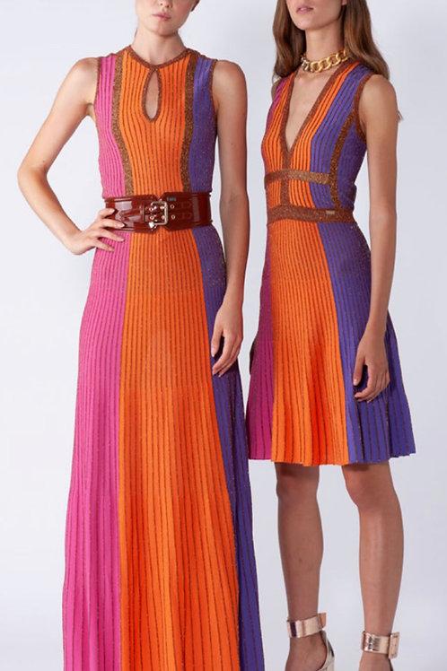 vestido corto de   lurex