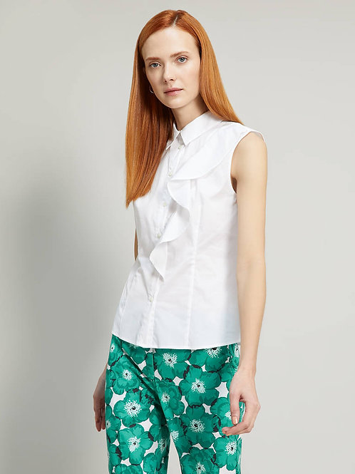 Poplin shirt with flounce
